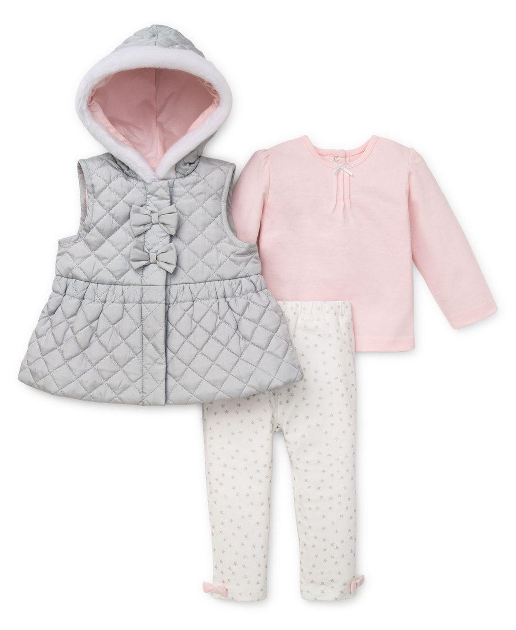 Little Me Boutique - Glitzy 3-Piece Vest Set, $54.00 (http://www.littleme.com/products/glitzy-3-piece-vest-set.html)