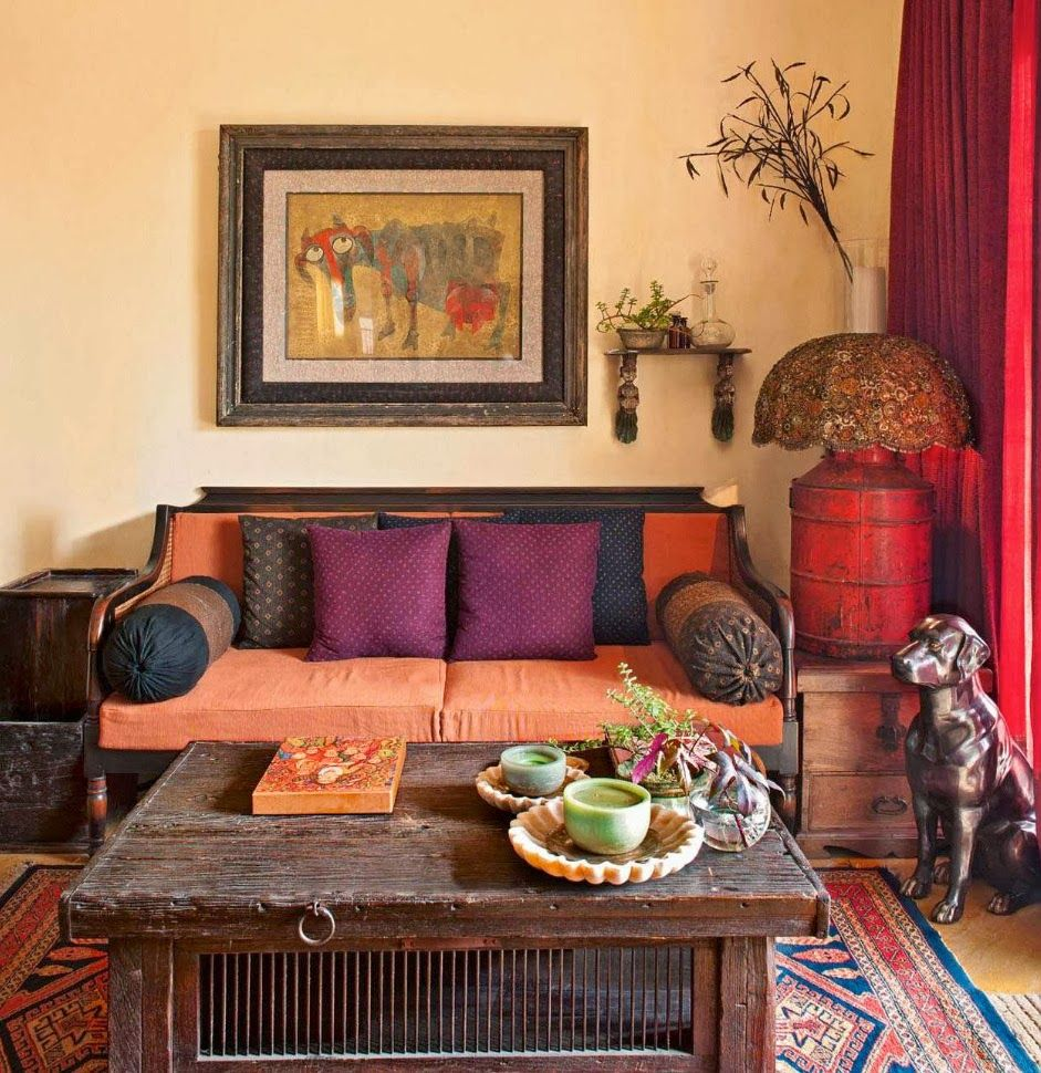 Afrocentric Living Room Lotus Fig Color Texture Pattern An Exotic Livingroom Pinned By