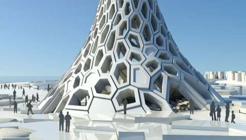 Cool Architecture Design Art tapered hexagonal towers | architecture, futuristic architecture