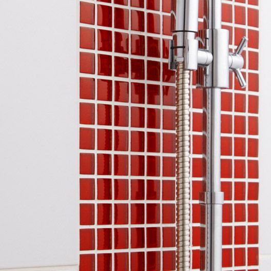 Mosaïque Glass dom ARTENS, rouge, 22x22 cm carrelages