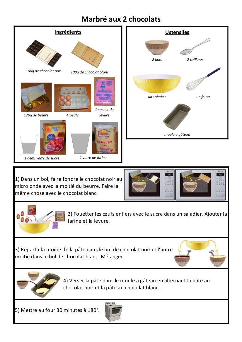 Marbre Aux Deux Chocolats Cuisine Pinterest Desserts Cake Et
