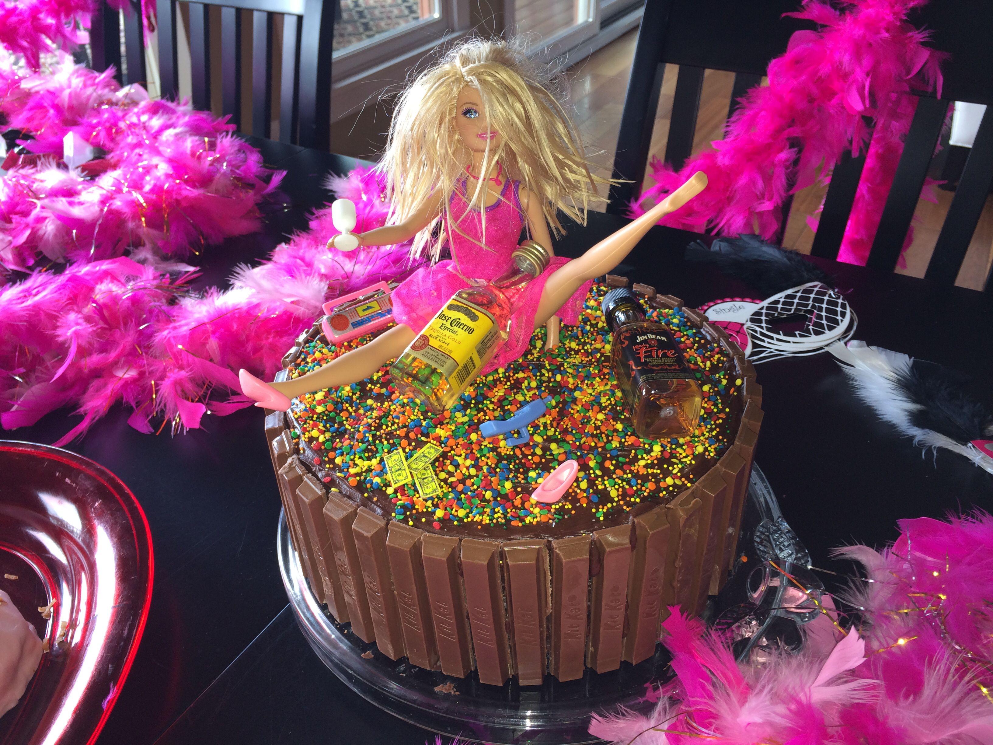 Drunk Barbie Cake Bachelorette Party Drunk Barbie