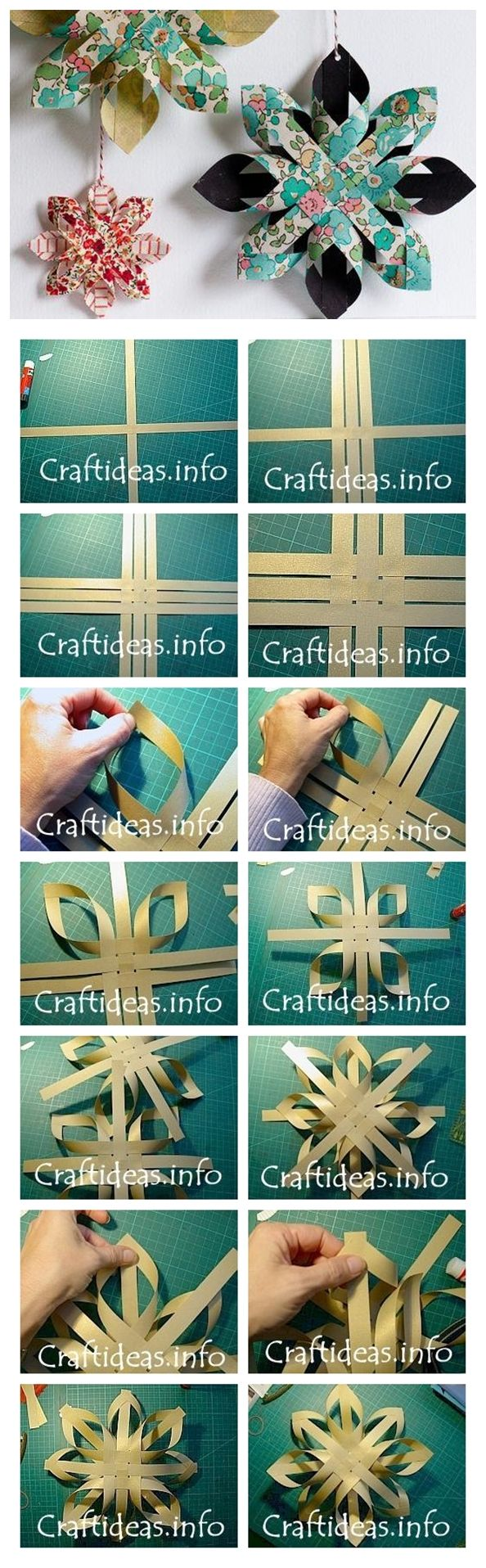 How to make paper star DIY step by step tutorial