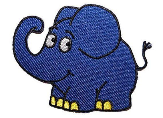 Sendung Mit Der Maus Elefant Bugelbild Patches Etsy Maus Elefant Sendung Mit Der Maus Blauer Elefant