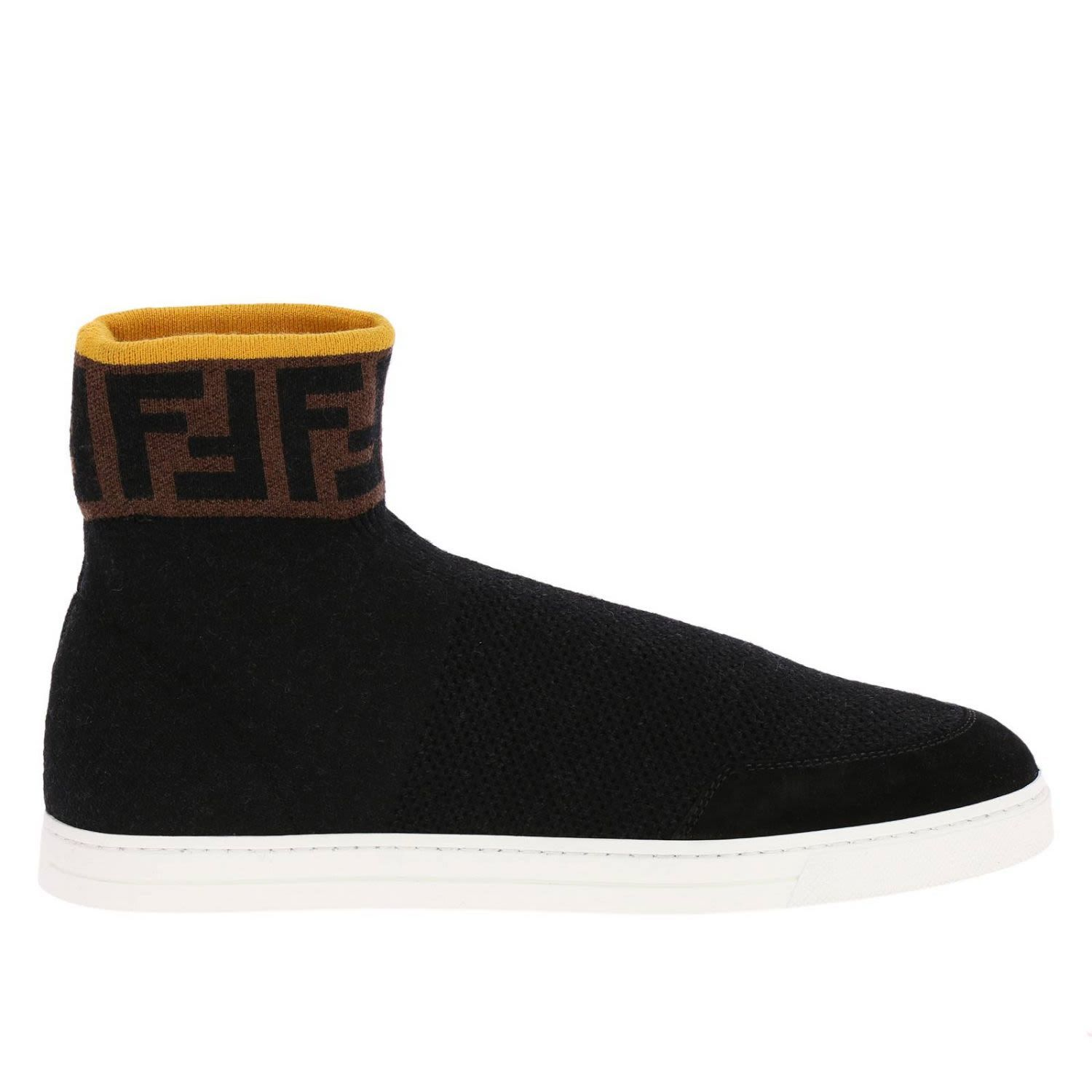 1513e52d5 Fendi High Top Ff Sneakers In Black | fendi | Fendi, Sneakers, Fendi ...