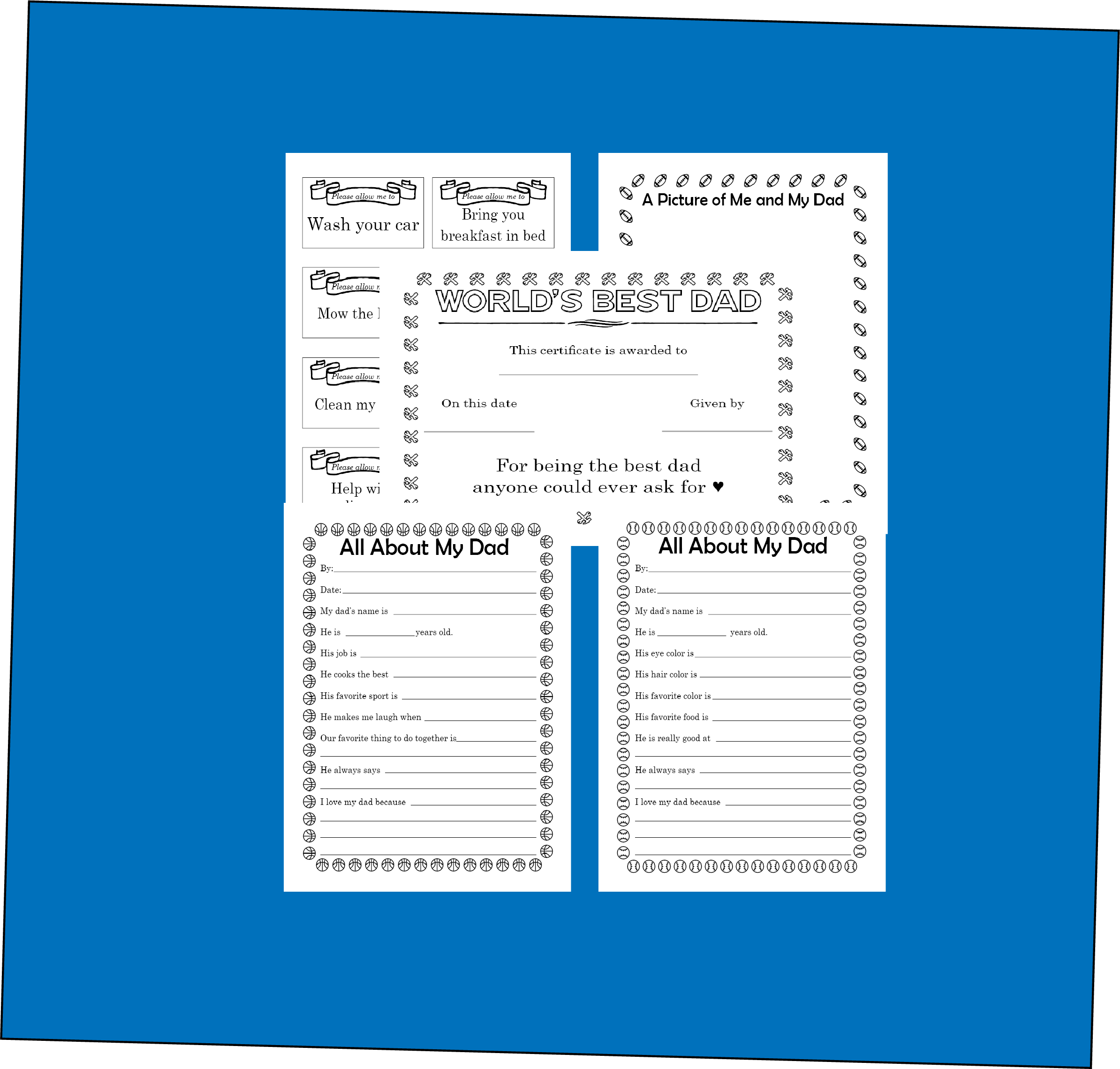 Printable Dad Father S Day Questionnaire Gift In 2020 Fathers Day Questionnaire Worlds Best Dad This Or That Questions