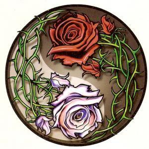 Rose Yin Yang Tattoo Designs | Yin Yang Roses Temporary Tattoo by biscotradingco | Yin yang ...