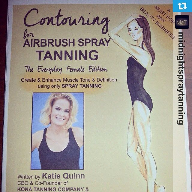 Repost from @midnightspraytanning - Happy Contouring! We hope you're enjoying the book!!  ARTISTS: Get your copy today at SprayTanContouring.com! Learn to spray tan - #makeupartists #spraytanning #aestheticians #beautytips #spas #salons #konatans #highlighting