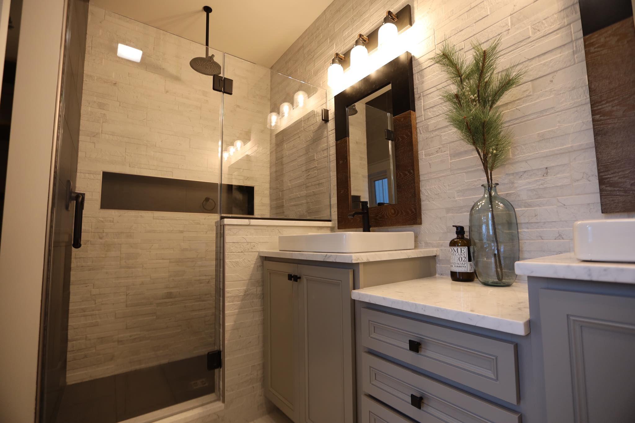 Custom Bathroom With Beracah Homes Featured In The Hayshaker