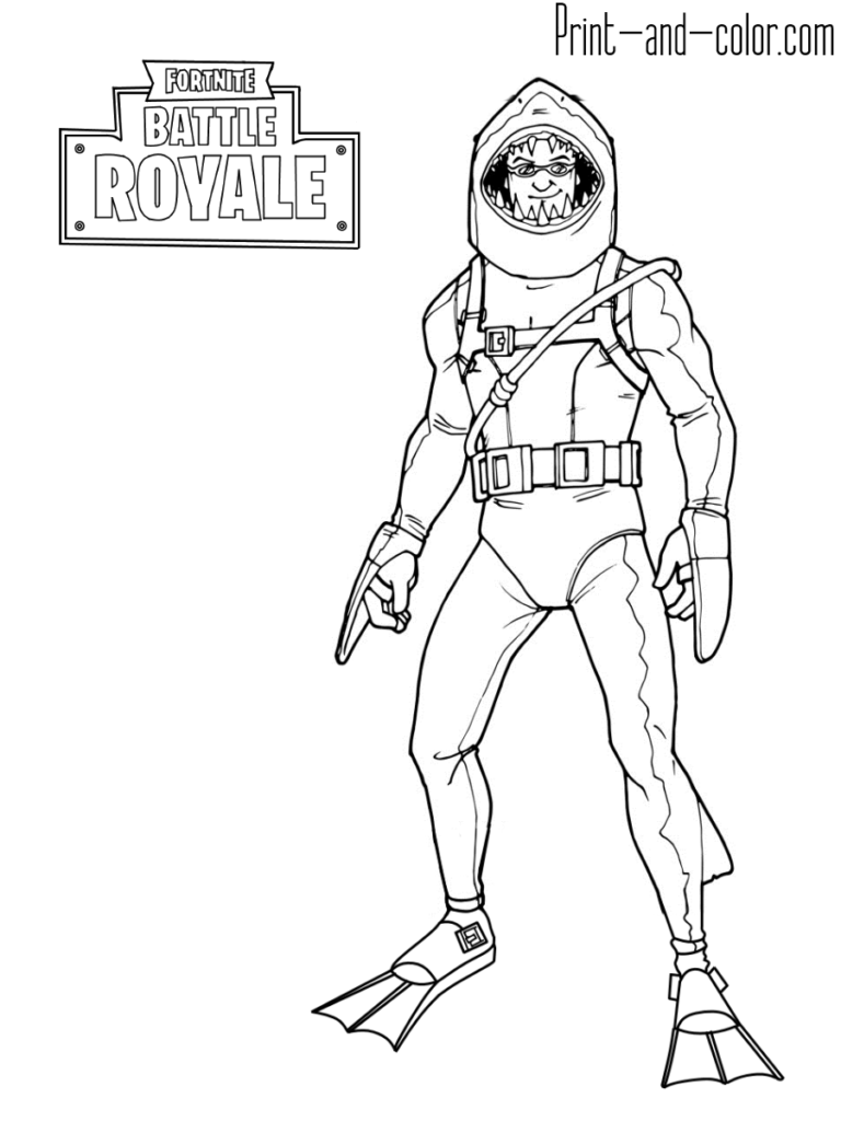 Fortnite Battle Royale Coloring Page Chomp Sr Jamess Board In
