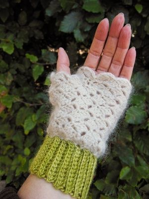 crochet fingerless mittens - Astra Gloves , Malabrigo, Rowan Kid ...