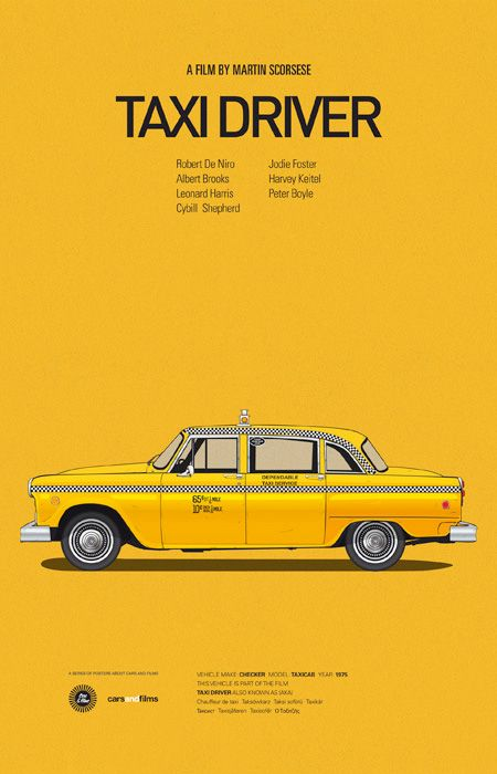 Taxi Driver  7  Poster Greatest Movies Classic /& Vintage Films