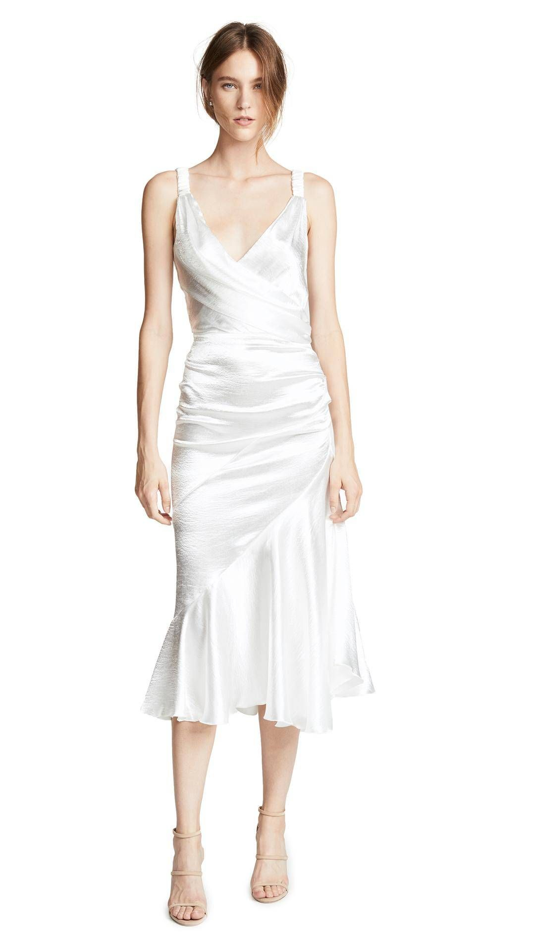 19 Beautiful Wedding Dresses You Can Buy Off The Rack Minimalist Wedding Dresses Bride Party Dress Engagement Party Dresses