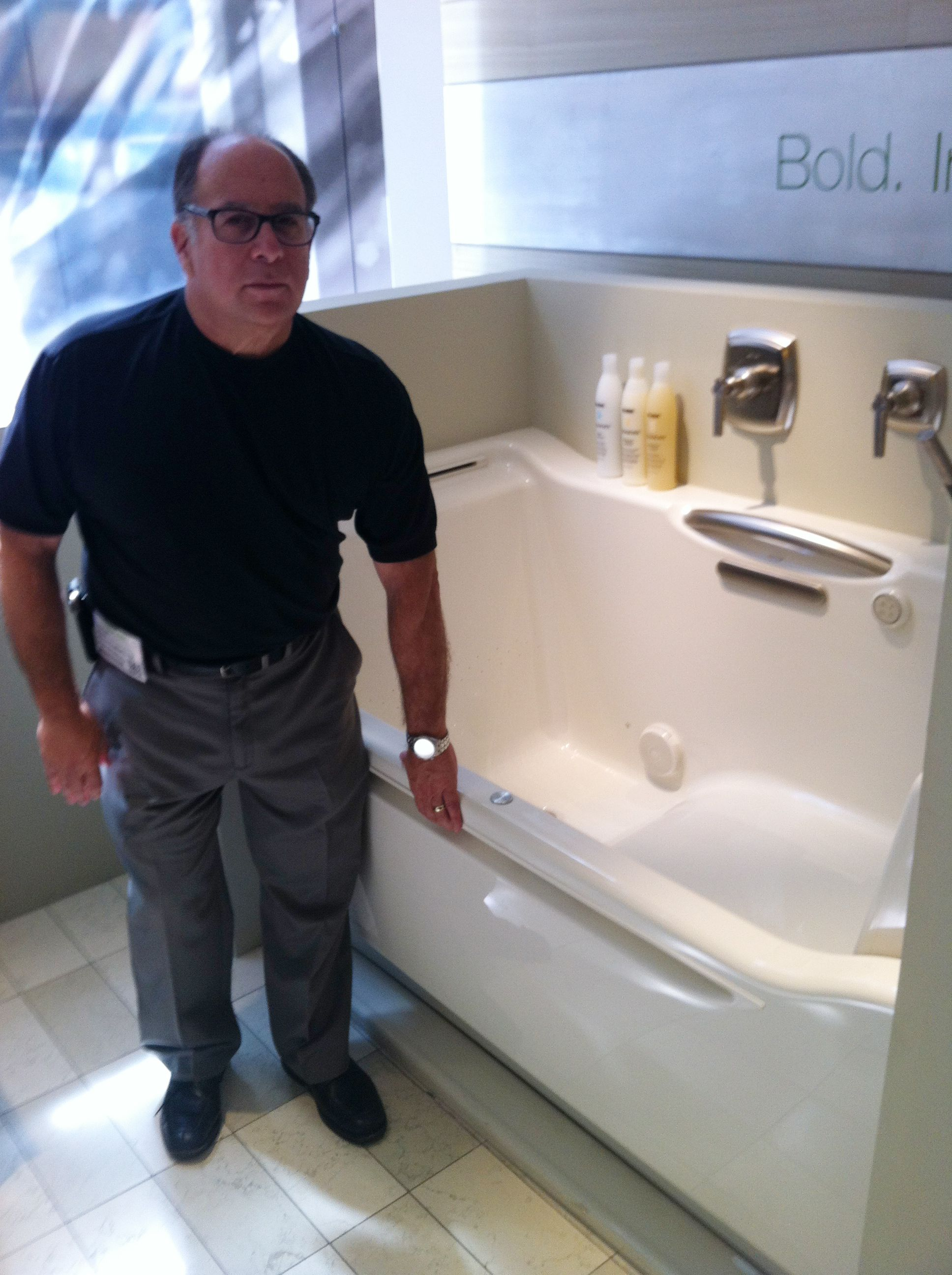 Aging in place bathtub - displayed at #NeoCon.....this is the tub I ...
