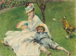 Auguste Renoir - Madame Monet and Her Son - 1874 - Painting