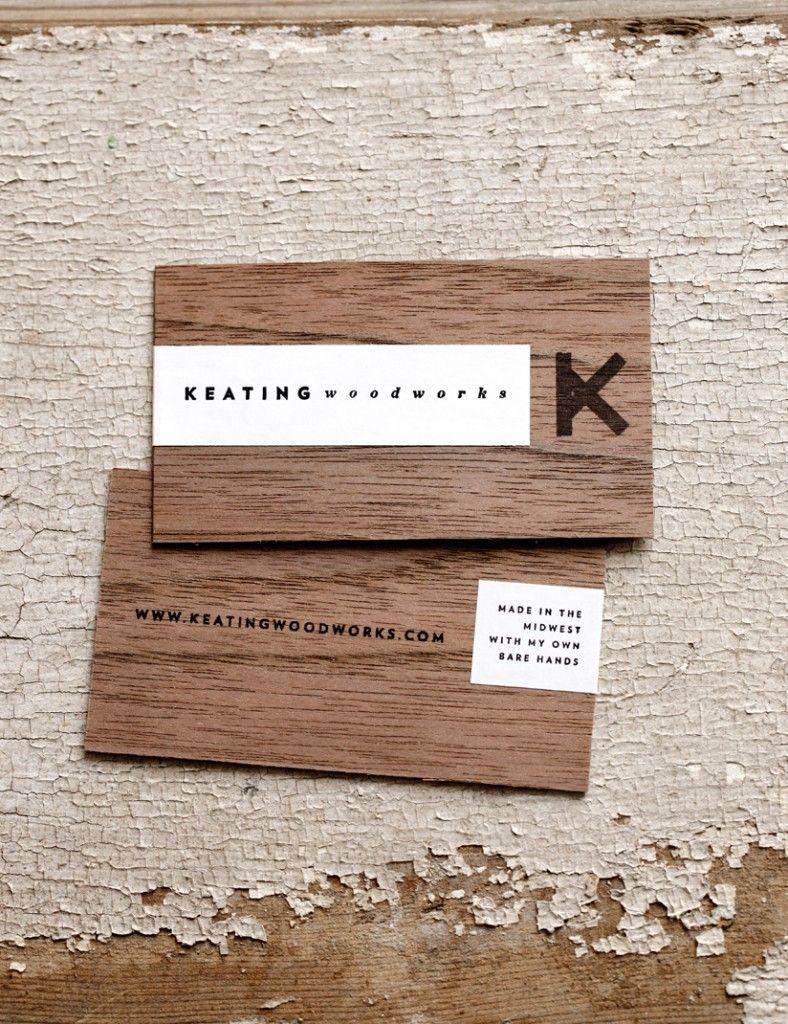 Keating Woodworks - Wood Business Card | Creativeideas.today ...