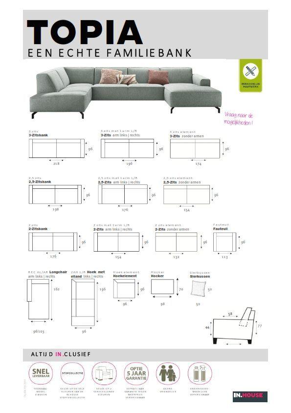 Hoekbank Topia INHouse - afmetingen | woonkamer | Pinterest | Arms ...