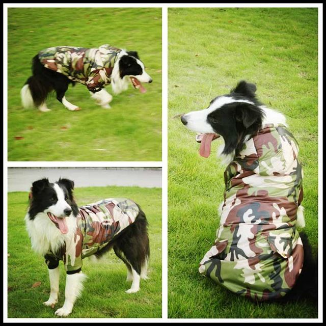 2016 New Large Dog Clothes for Dogs Camouflage Coat 3XL 4XL 5XL 6XL 8XL 9XL Golden Retriever Hoodies Pet Costume for Big Dogs