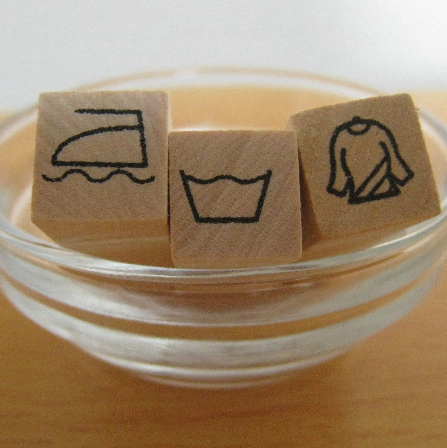 Laundry Instructions  Washing Instructions  Rubber Stamps  Set