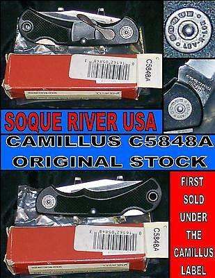 Vintage Usa Soque River Camillus Lev R Lok Knife Soque