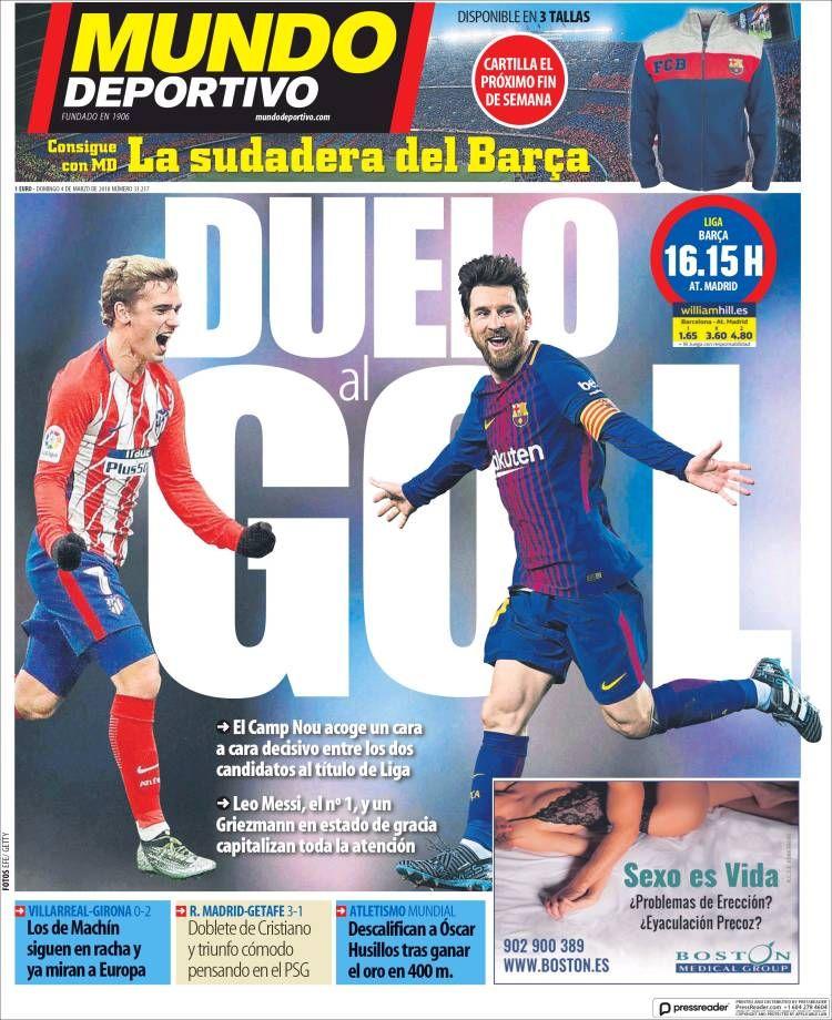 20180304 Portada de El Mundo Deportivo (España