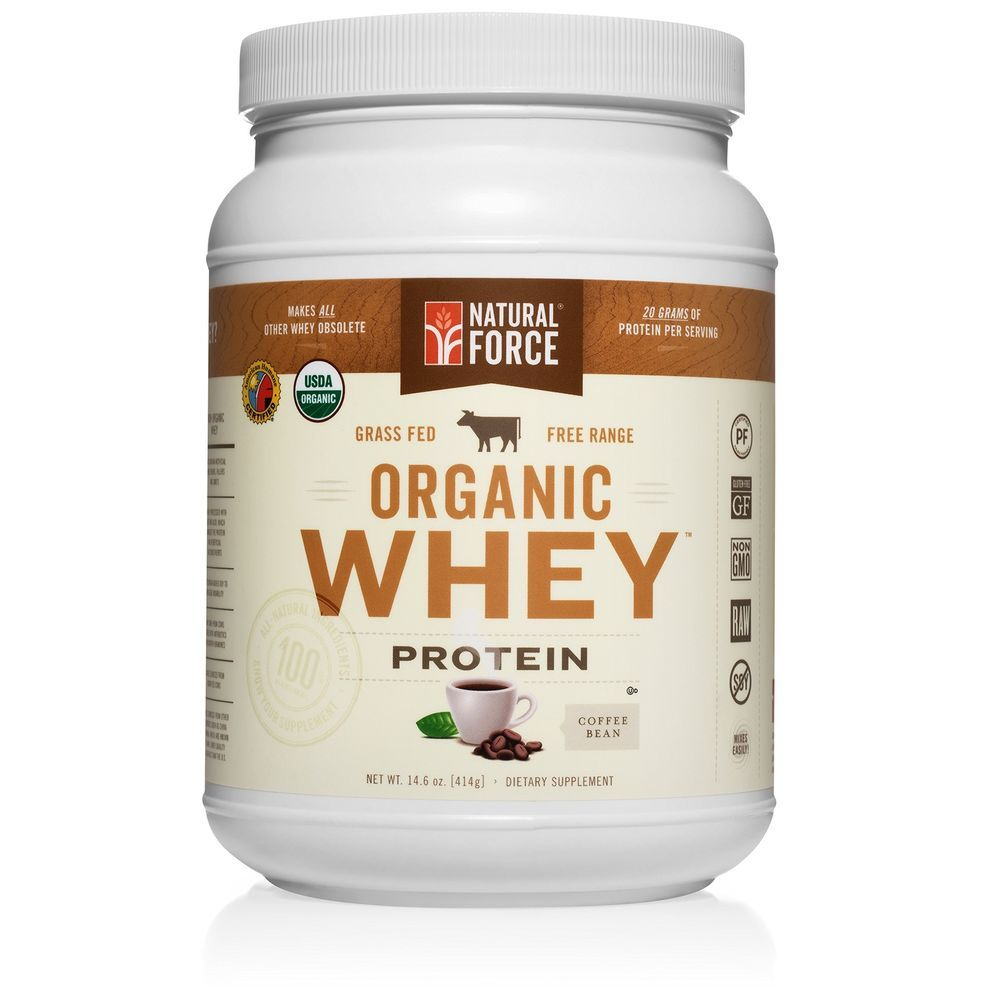 Natural Force Organic Whey Protein Powder Grass Fed Whey Coffee Bean New Naturalforce Paleo Protein Powder Organic Whey Protein Organic Whey Protein Powder