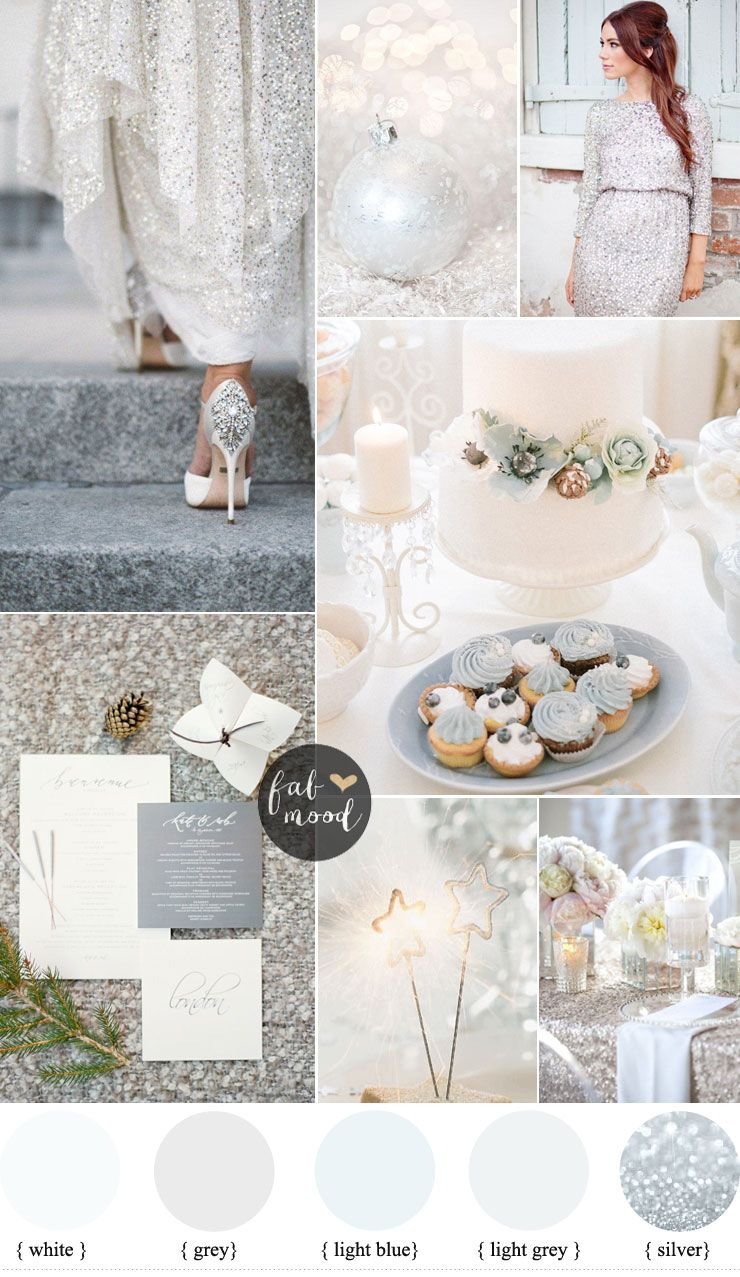 Silver and White Winter wedding For A Glamorous Winter Wedding ...