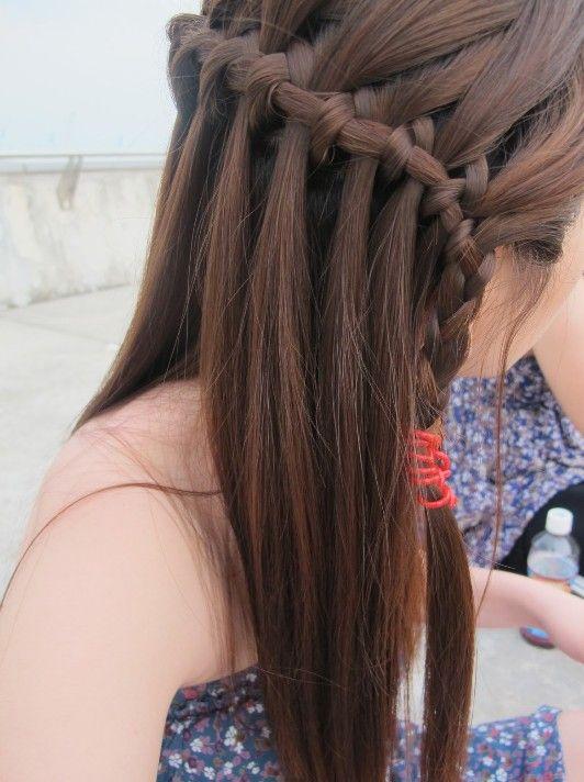 beautiful cascade/waterfall braid hairstyles gallery | braid
