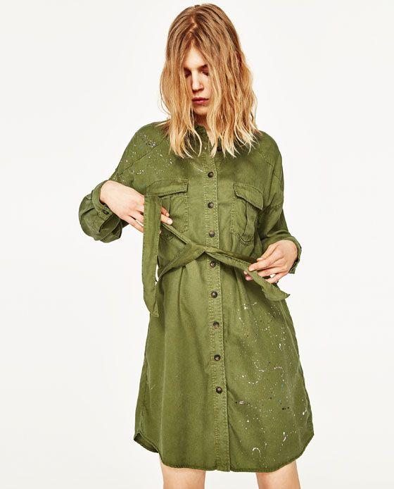 mejor sitio estilo atractivo buscar oficial Imagen 2 de VESTIDO CAMISERO ESTAMPADO de Zara | vestidos ...