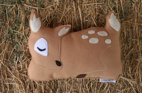 Forest Critter Sleepy Fawn with Snail Eco Friendly by SavageSeeds, $34.00