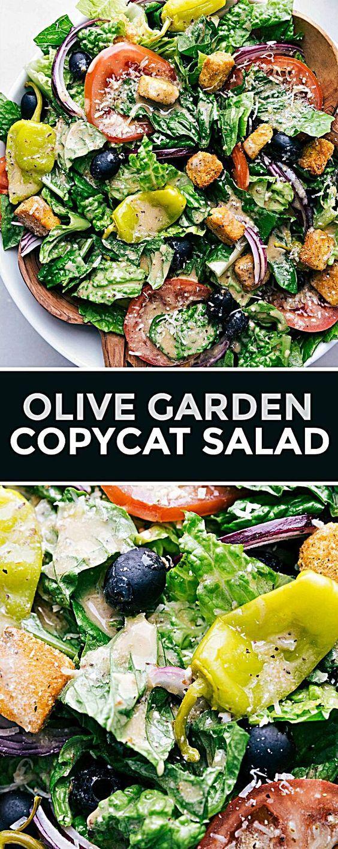Food recipes/vegetarian in 2020 Olive garden salad