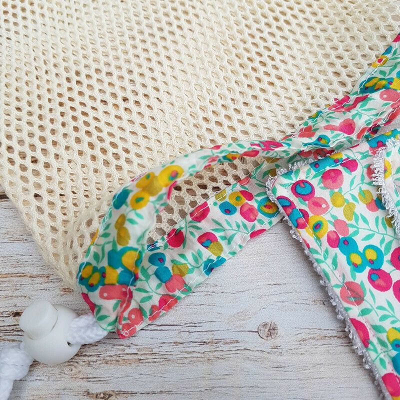 Lingettes Lavables coton bio lot de 10 Fuchsia