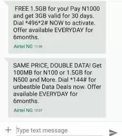 Activate Airtel Double Data 400MB 1 5GB 3GB 7GB And 10GB Airtel has