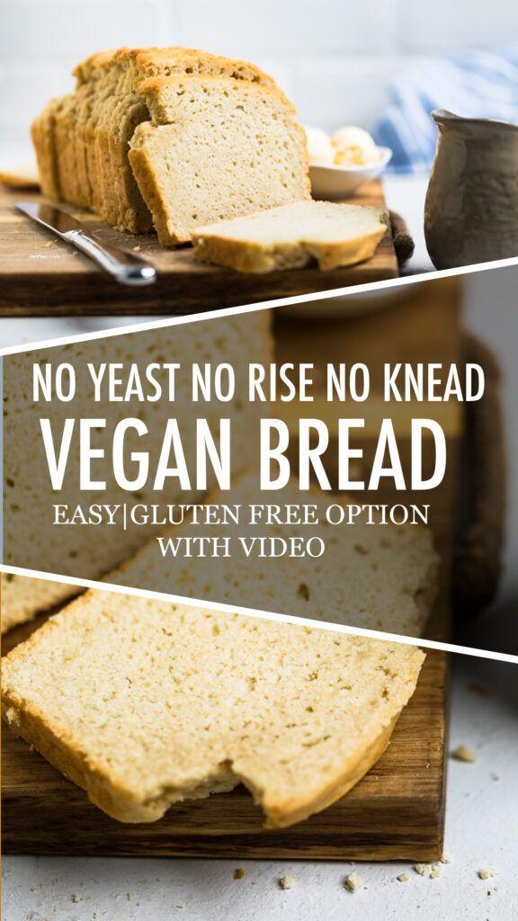 No Yeast Vegan Bread | Recipe in 2020 | Vegan bread, Bread ...