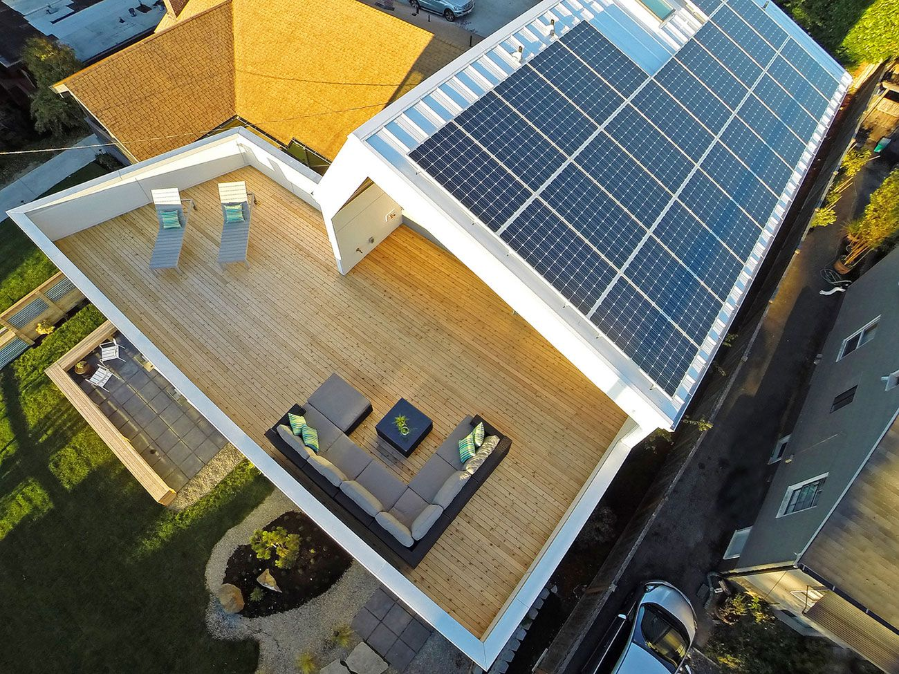 Unexpected Roof Design For Solar Panels In This Net Zero Home Solar Panels Roof Solar Panels Solar Panel Roof Design