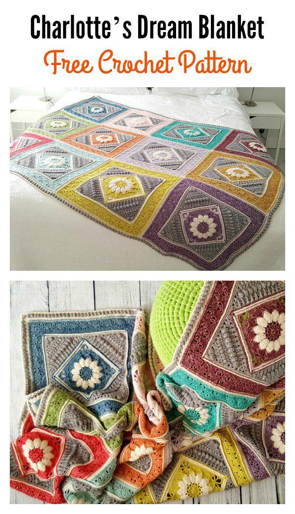 Charlotte\'s Dream Blanket Free Crochet Pattern | Manta, Mantas ...