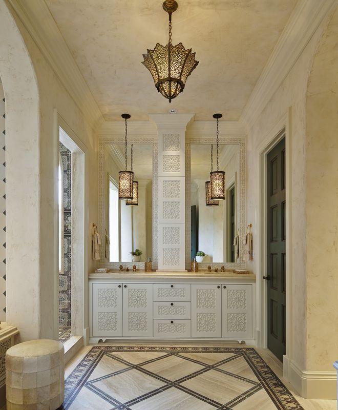 Coastal Spanish Colonial Bathroom Closet Linda Ruderman Interiors Inc Dering Hall Design