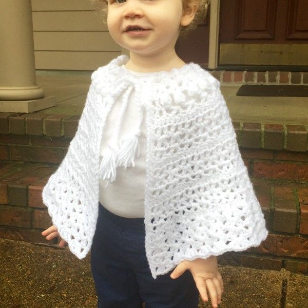 Crochet Pattern - Easter Shawl for Girls | Poncho niña, Bordes de ...