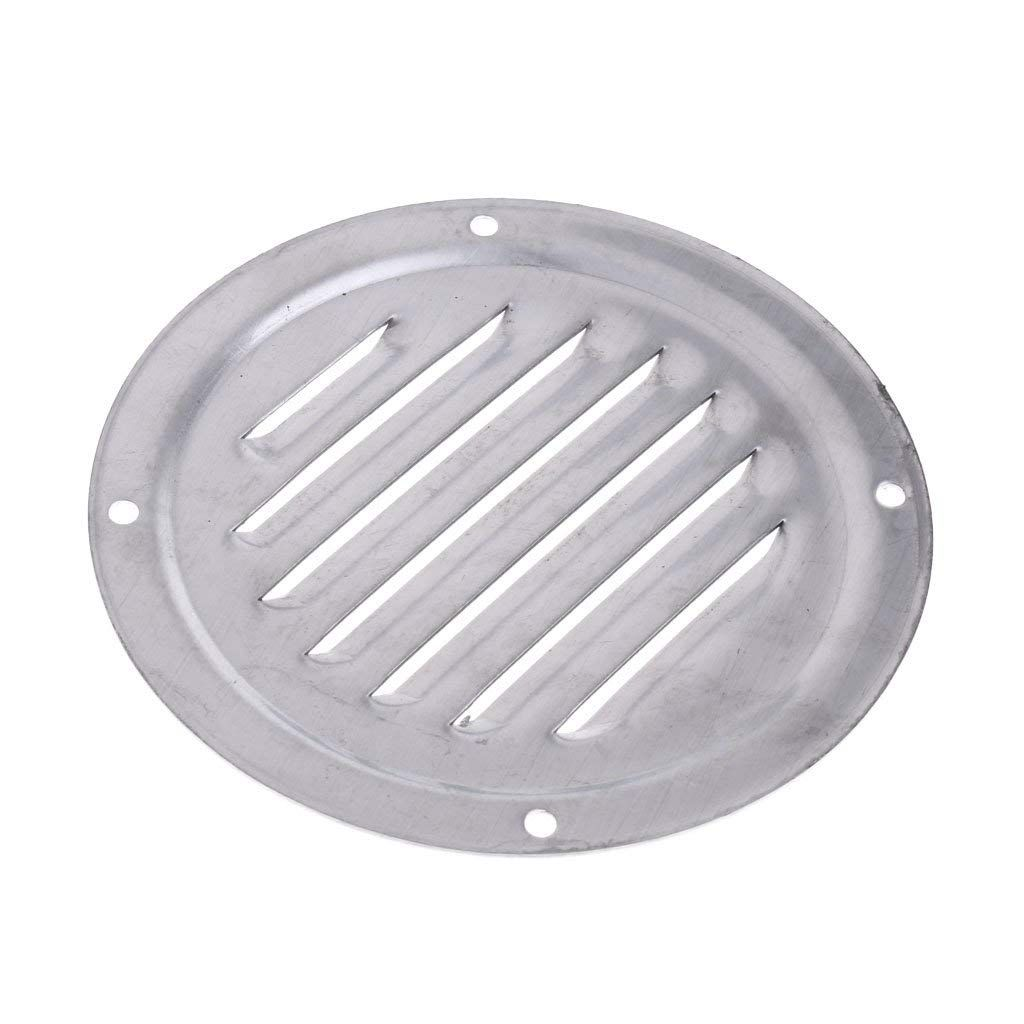 Homyl 4 Inch Round Stainless Steel Louvered Vent Grill Cover