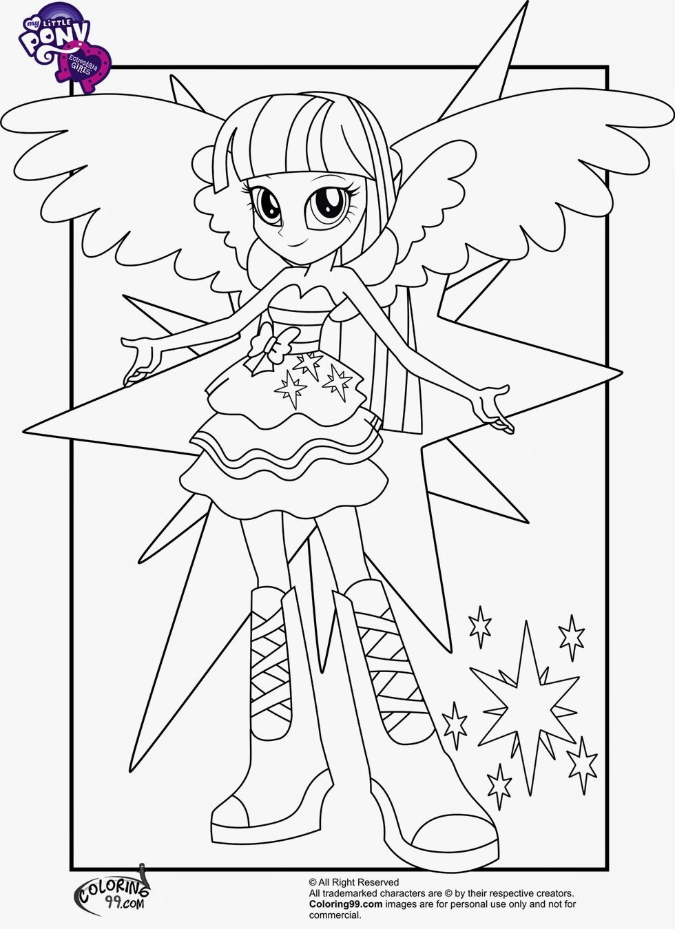 my little pony equestria girls coloring pages - My Little Pony Equestria Girl Coloring Pages