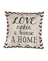 sassandbelle kissen love makes a house a home quadratisch