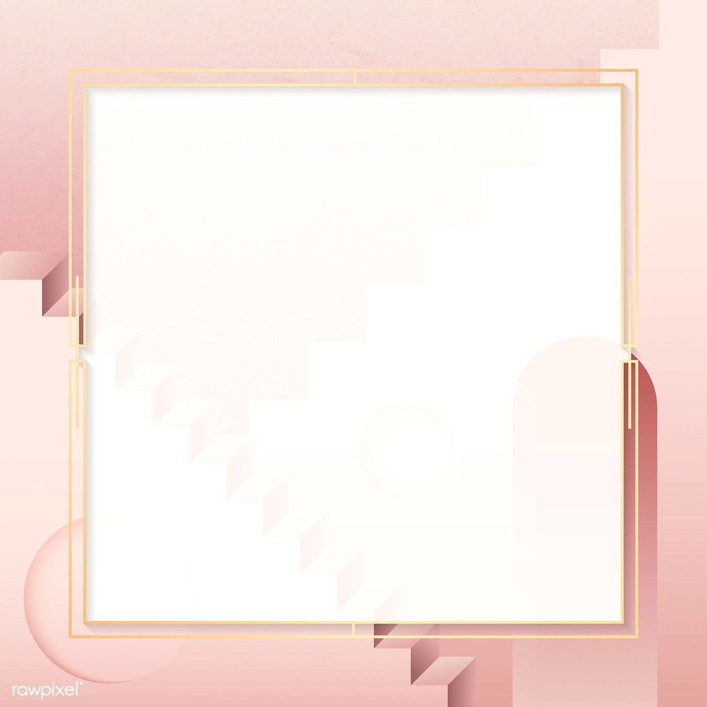 Golden Square Frame On A Pink Background Vector Premium Image By Rawpixel Com Manotang Pink Background Frame Square Frames