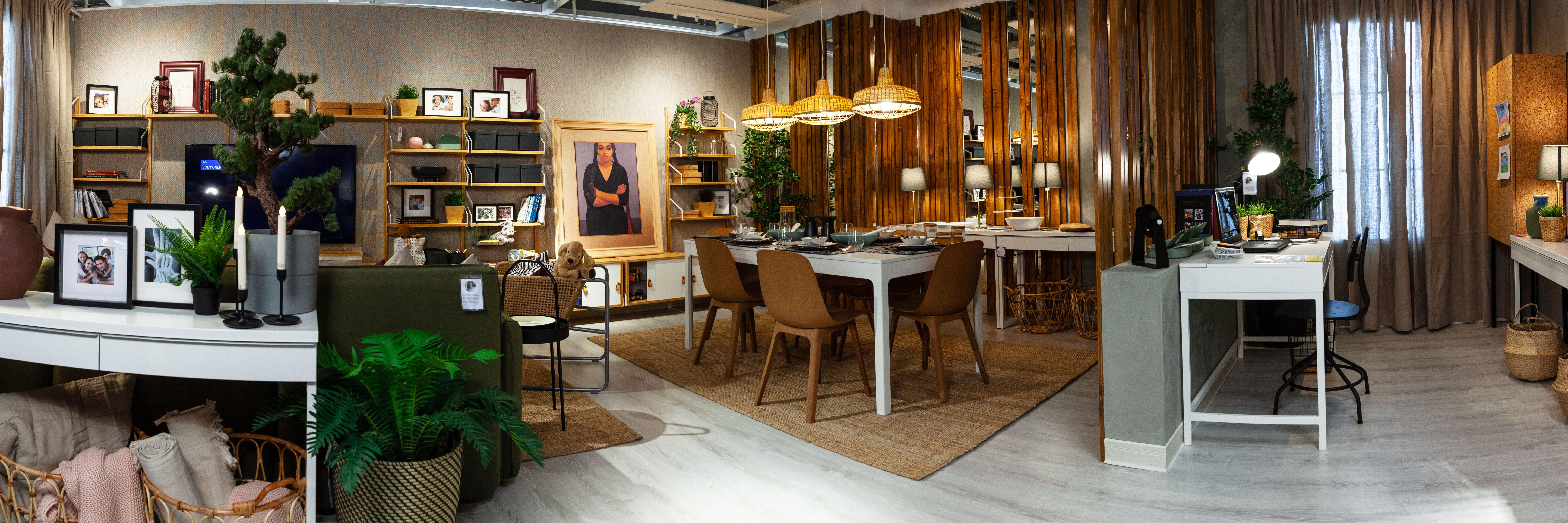 Panorama Full Vision تصوير بانوراما للتصميم كامل Ikea Living Room Design Planning Design