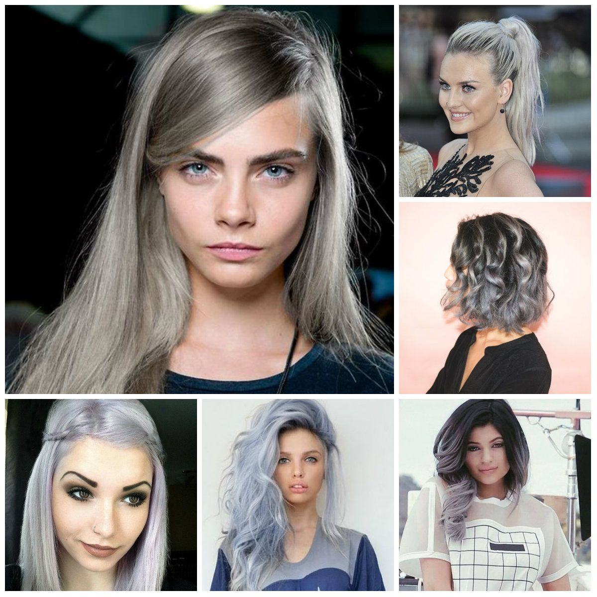 Grey Long Straight Hairstyles Fall Winter 2016 2017