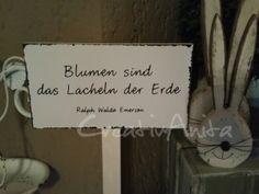 Schild - Gartenstecker - Spruchschild #grabbepflanzungherbst