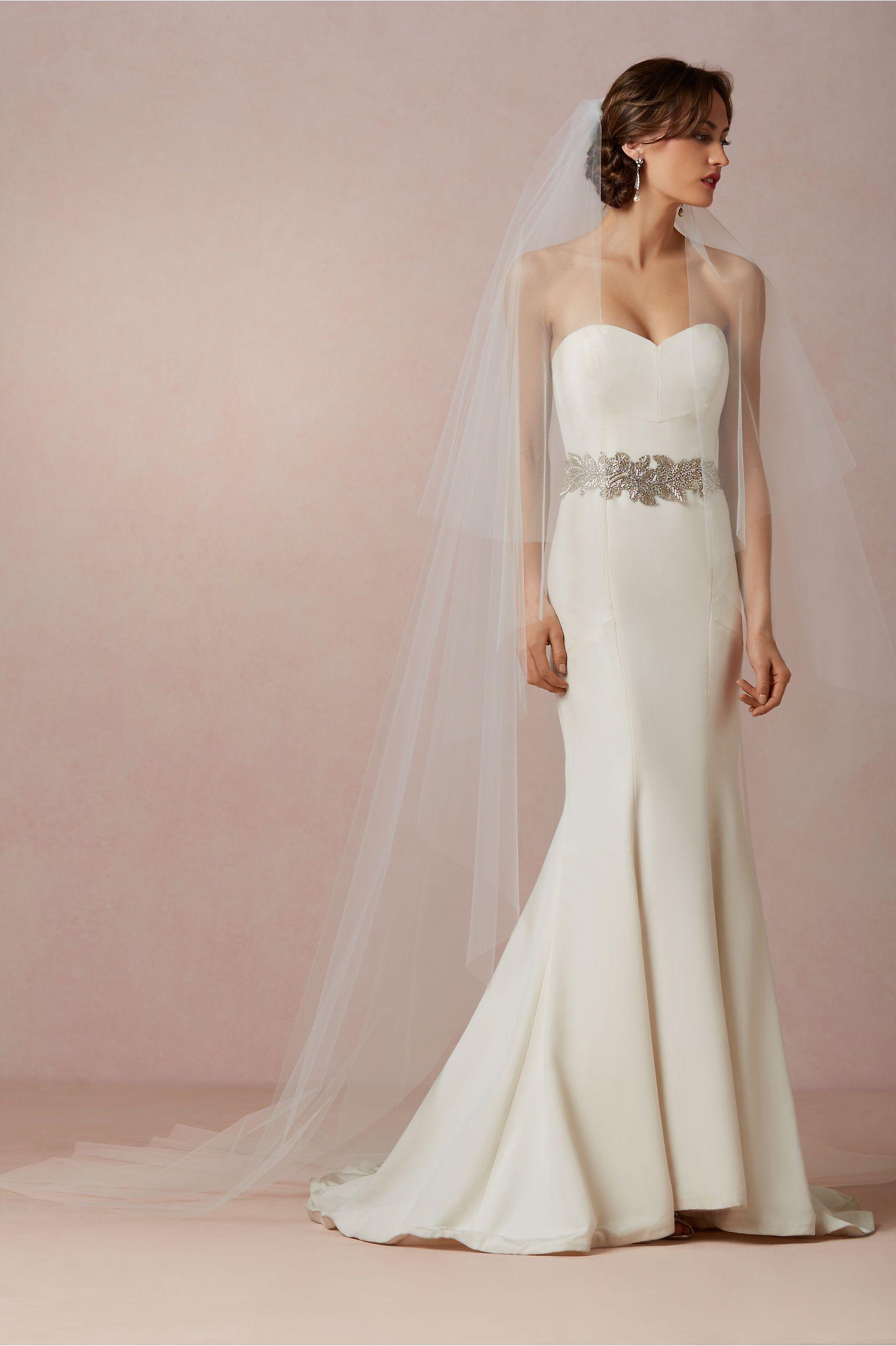 Floating Cathedral Veil Wedding dress sash, Wedding