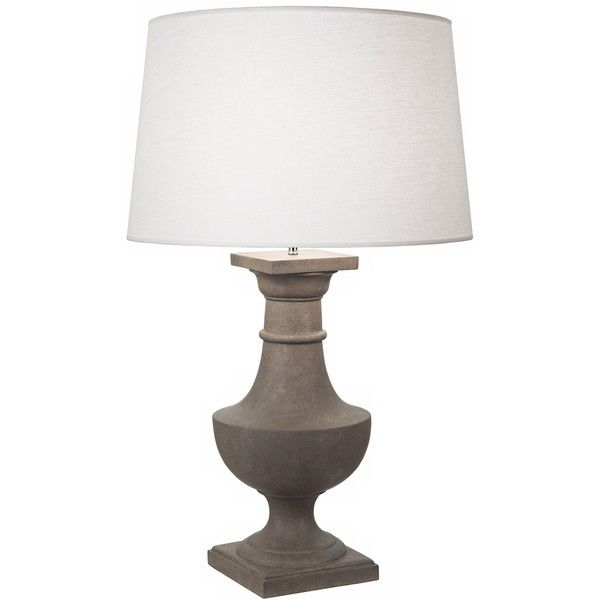 Robert abbey bronte faux limestone oyster shade table lamp 2185 robert abbey bronte faux limestone oyster shade table lamp 2185 dkk liked on polyvore featuring home lighting table lamps grey linen shade robert aloadofball Images
