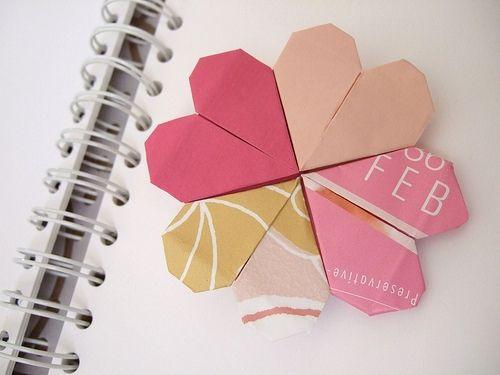 Pretty Origami Heart Page Marker Origami Pinterest Origami