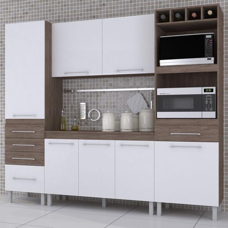 Compre Cozinha Compacta 4 Pecas Com Kit 2 Fornos Ravena Indekes