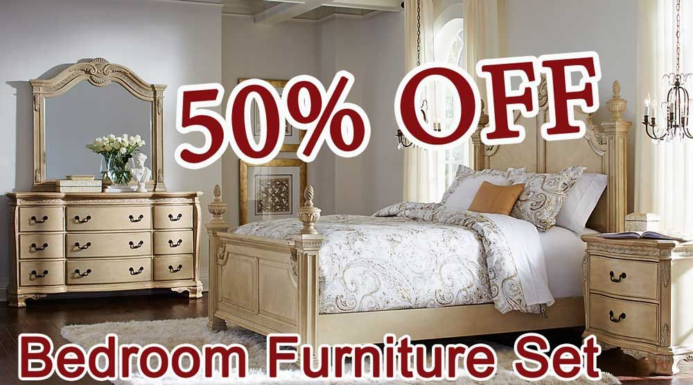 Good 50% OFF DISCOUNT Cortinella Queen White 5Pc Poster Bedroom Furniture Set. Design